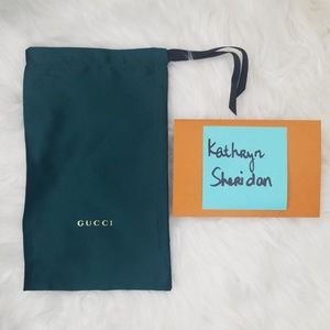 NEW GUCCI GREEN SATIN SUNGLASSES POUCH